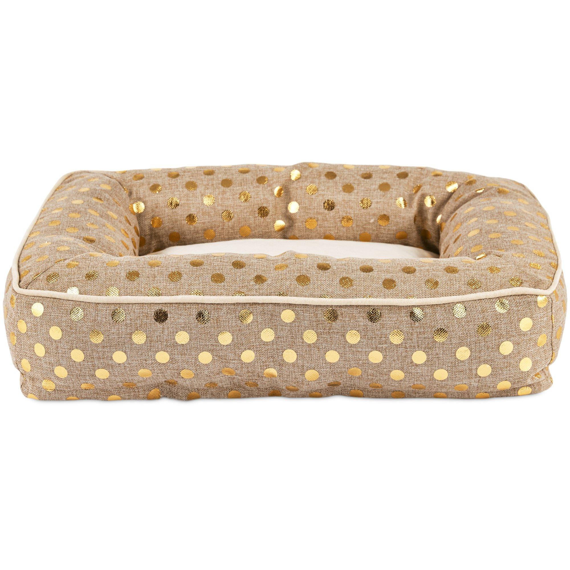 Harmony Memory Foam Nester Dog Bed in Gold Blast