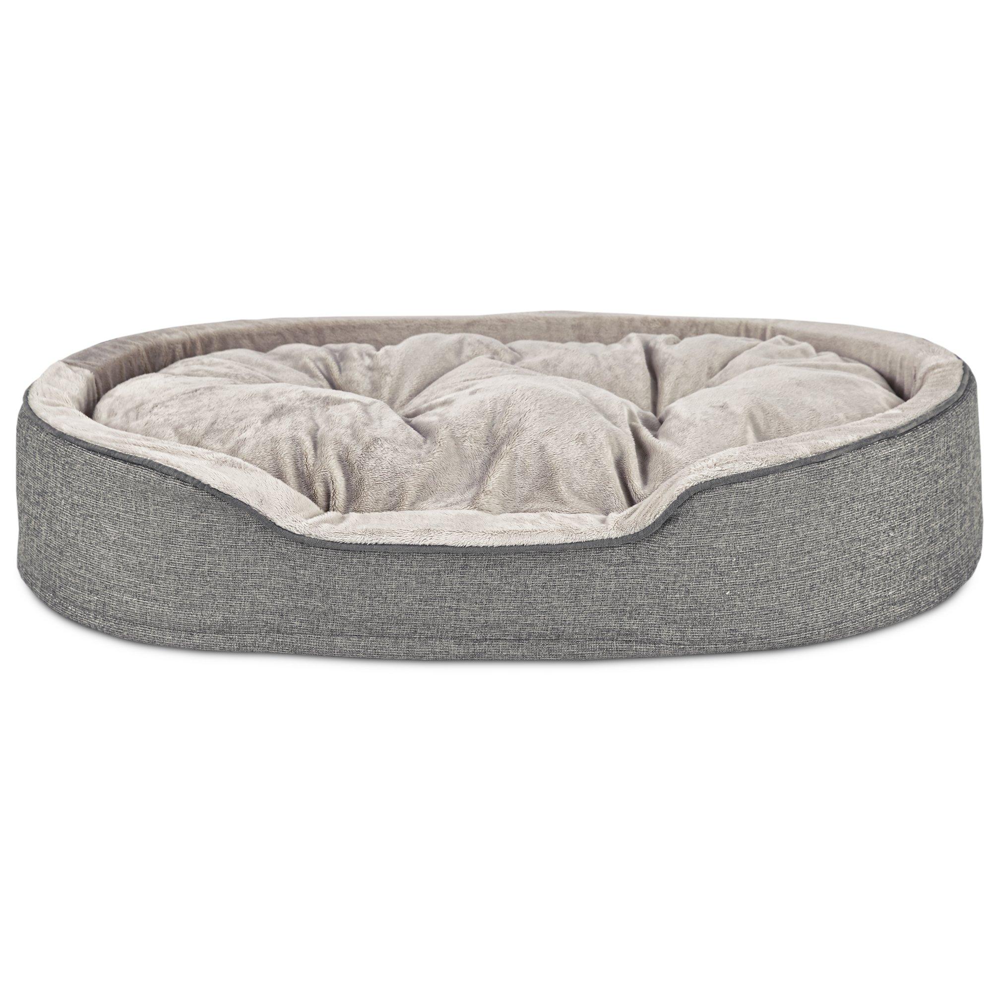 Harmony Orthopedic Cuddler Dog Bed in Silver