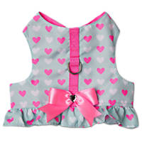 Bond & Co Hearts with Bow Tutu Fringe Cat Harness