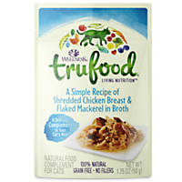 Wellness TruFood Complements Natural Wet Cat Food Shredded Chicken Breast & Flaked Mackerel in Broth