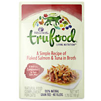 Wellness TruFood Complements Natural Wet Cat Food Flaked Salmon & Tuna in Broth