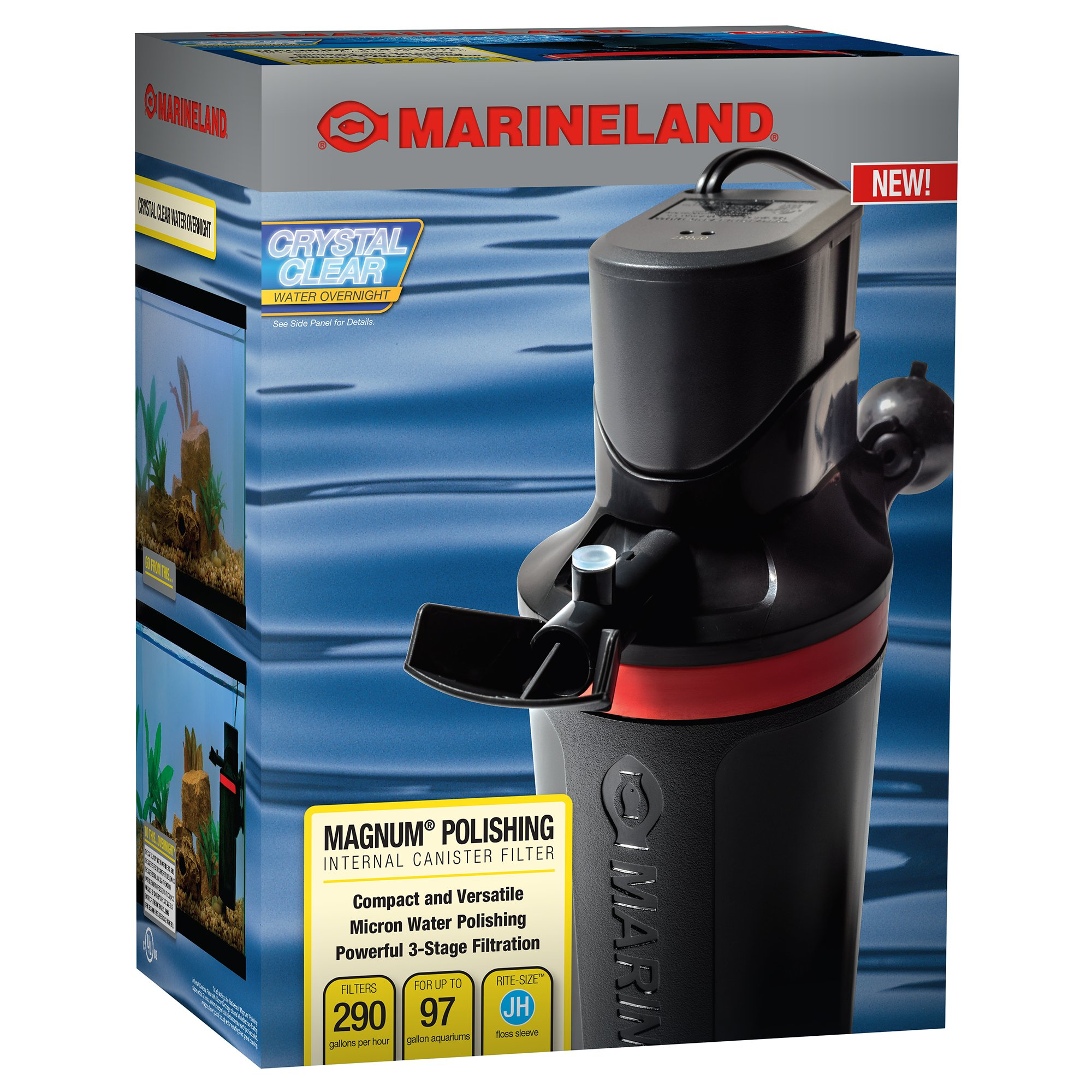 Marineland magnum polishing internal canister filter petco for Petco fish filters