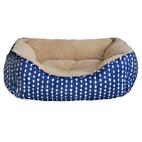 Petspaces Blue with White Dots Cuddler Dog Bed