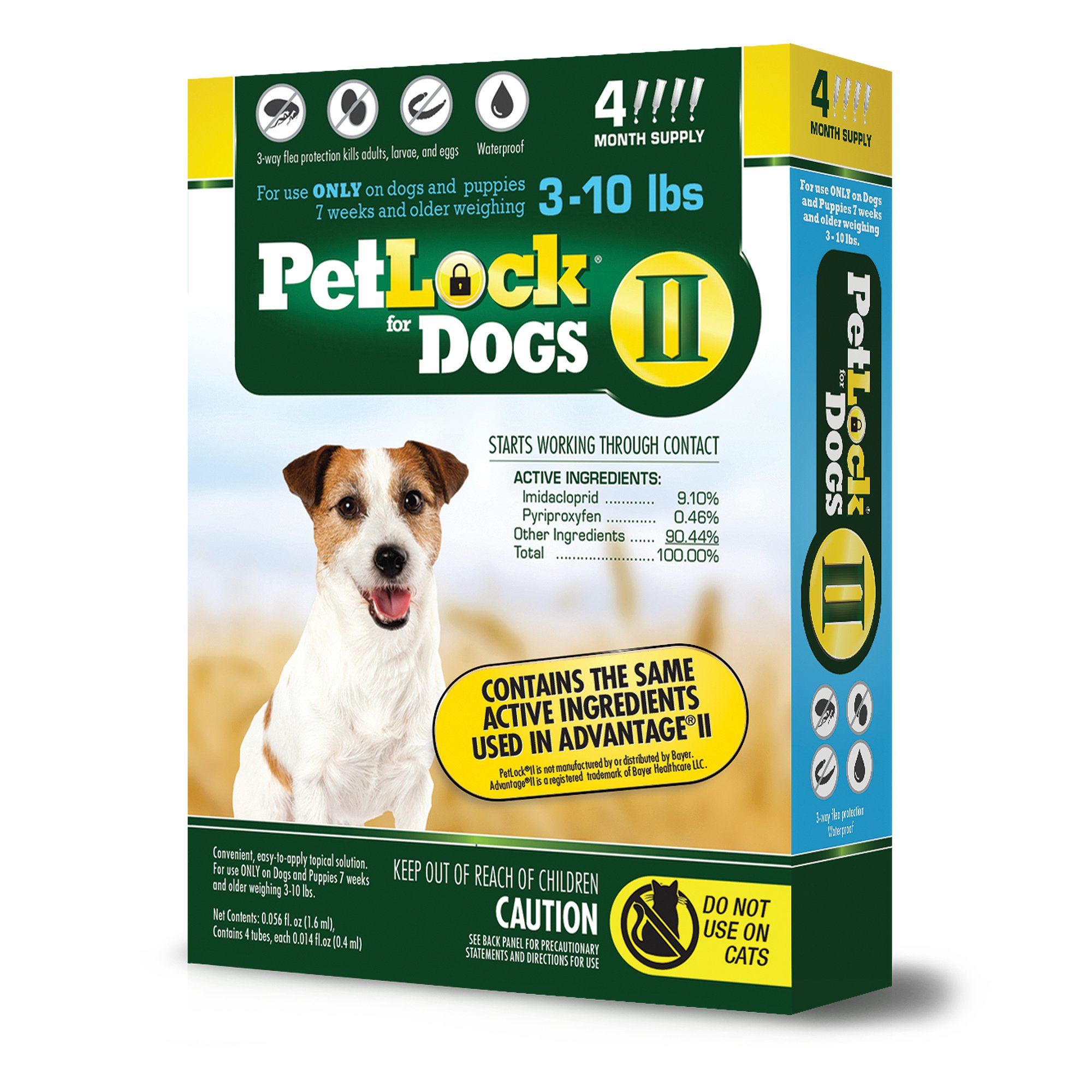 PetLock II Flea Treatment for Dogs, 4 Month Supply
