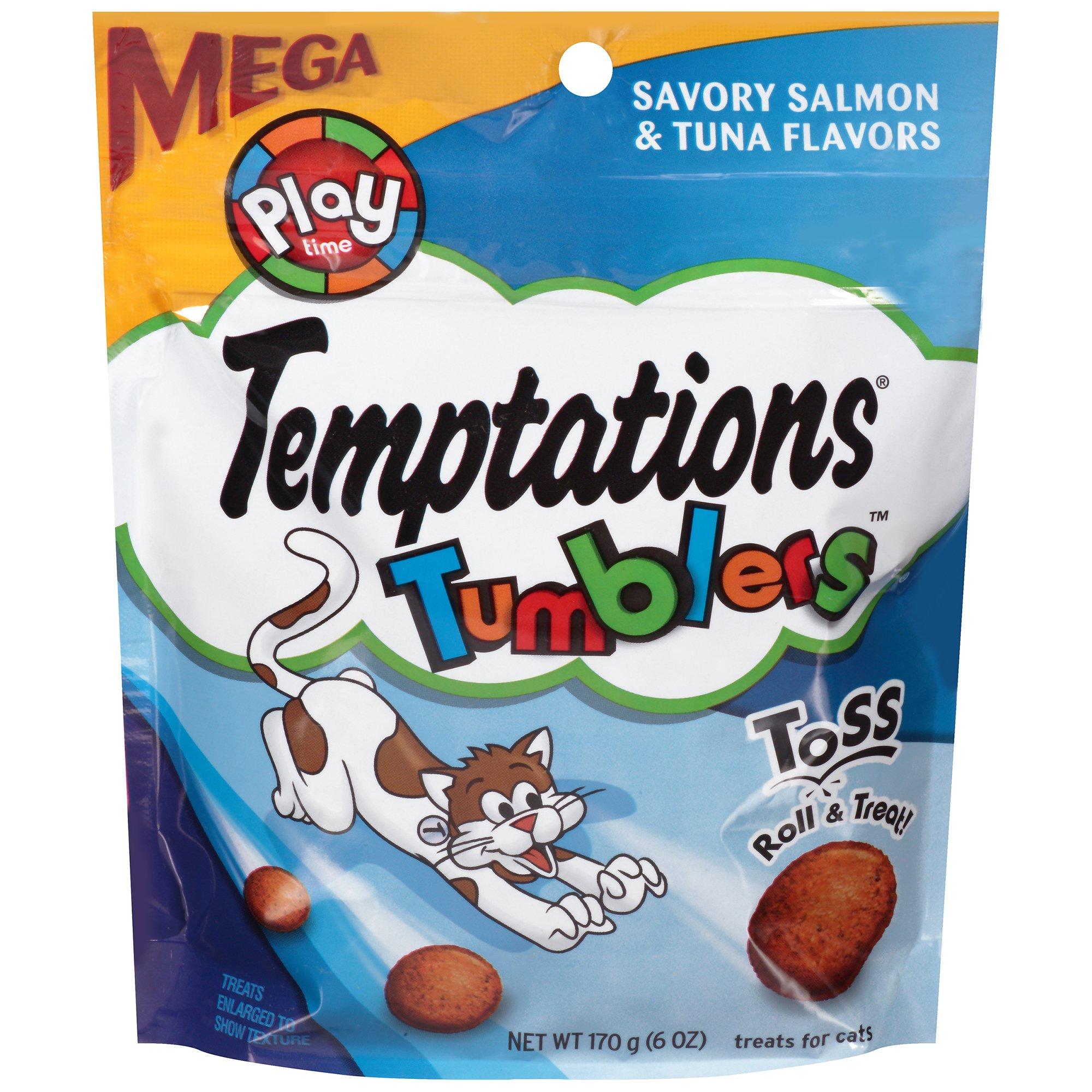 TEMPTATIONS TUMBLERS Salmon & Tuna Flavor Cat Treats