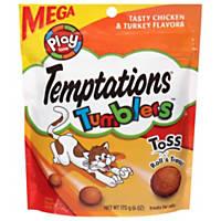 TEMPTATIONS TUMBLERS Chicken & Turkey Flavor Cat Treats