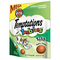 TEMPTATIONS TUMBLERS Catnip & Chicken Flavor Cat Treats