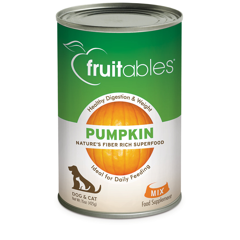 Fruitables Pet Pumpkin Canned Food, 15 oz