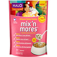 HALO Purely For Pets Freeze-Dried Salmon & Turkey Mix 'n Mores Cat Food Toppers