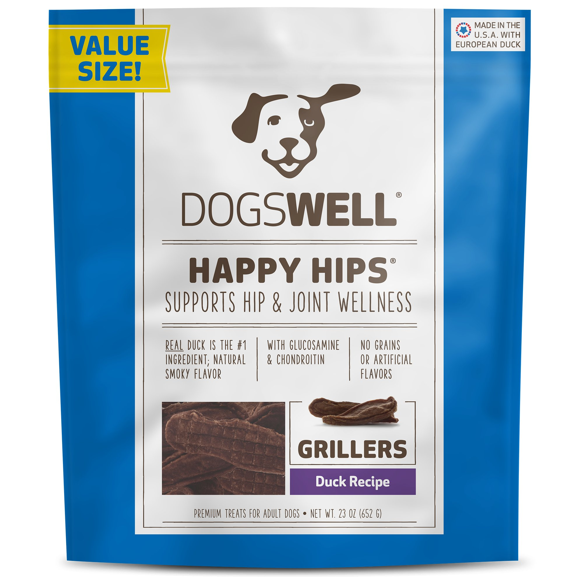 Dogswell Happy Hips Duck Grillers Dog Treats