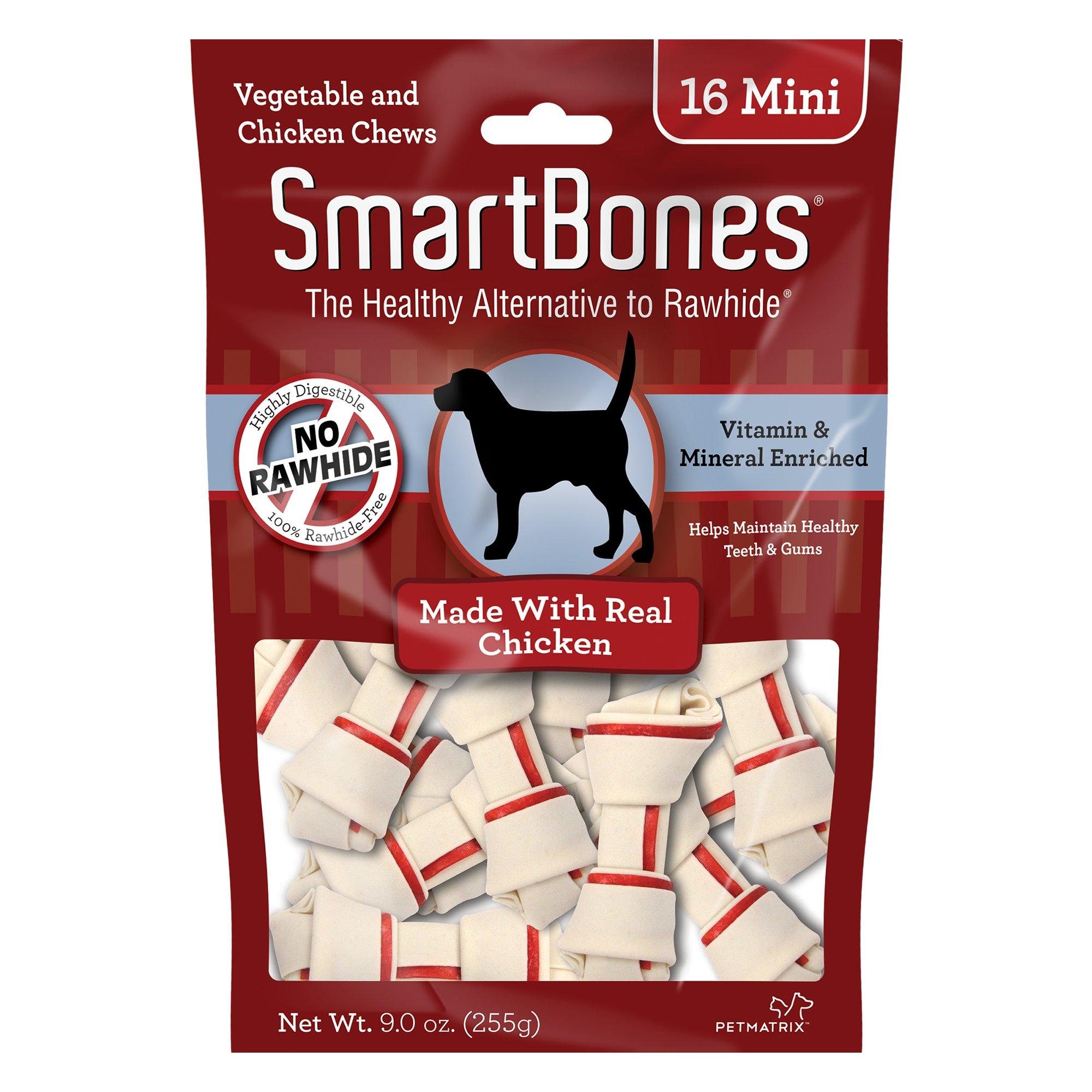 SmartBones NO-RAWHIDE Chicken Mini Dog Chews