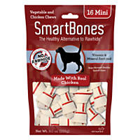 SmartBones NO-RAWHIDE Chicken Mini Dog Chews