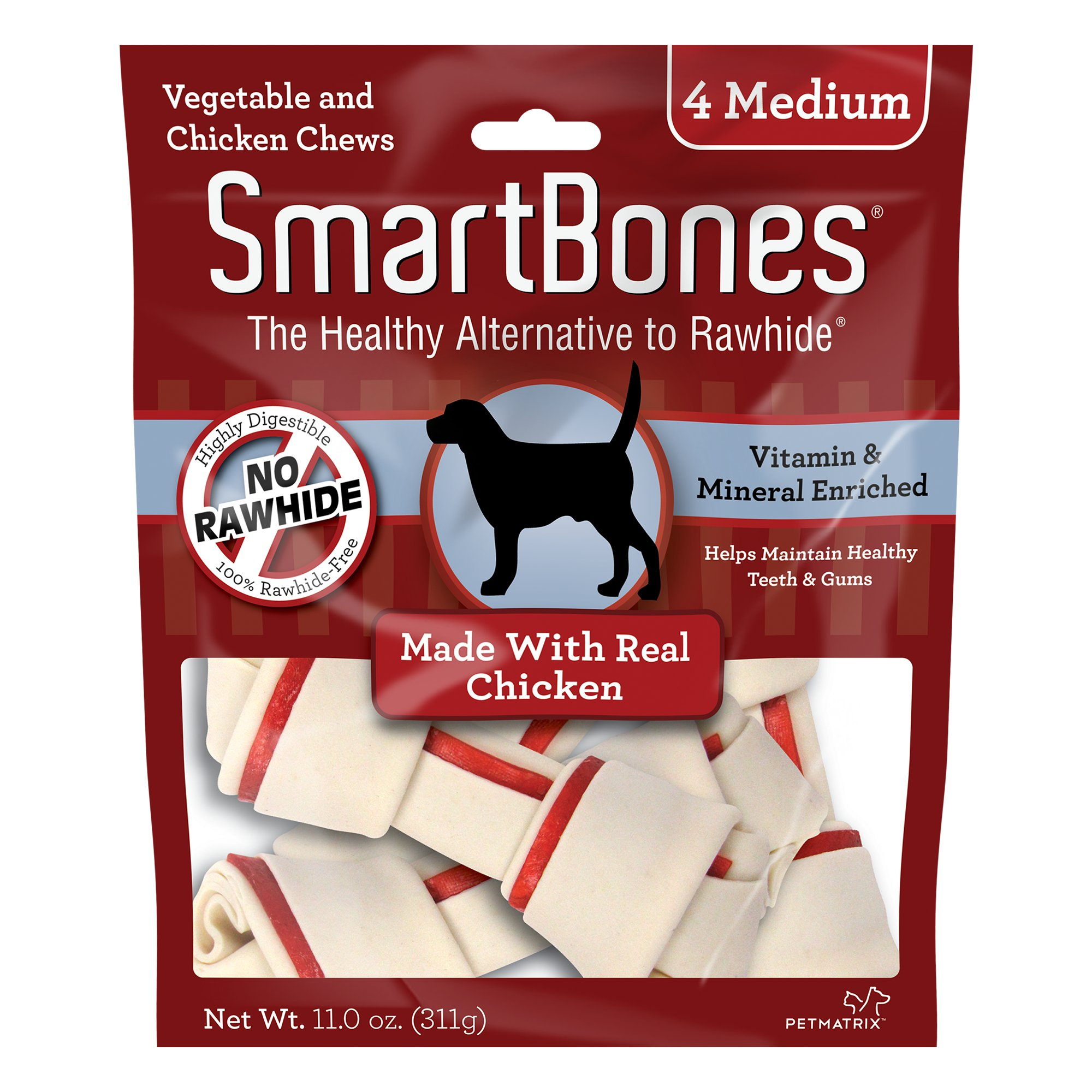 SmartBones NO-RAWHIDE Chicken Medium Dog Chews
