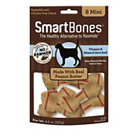 SmartBones NO-RAWHIDE Peanut Butter Mini Dog Chews