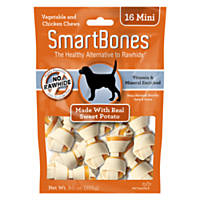SmartBones NO-RAWHIDE Sweet Potato Mini Dog Chews