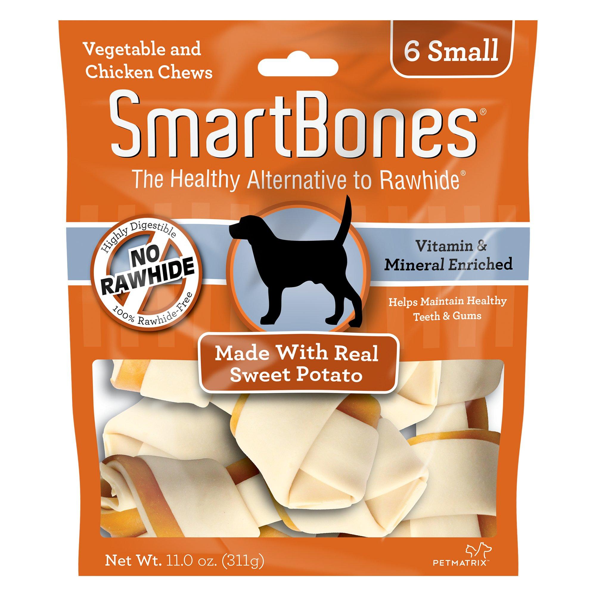 SmartBones NO-RAWHIDE Sweet Potato Small Dog Chews