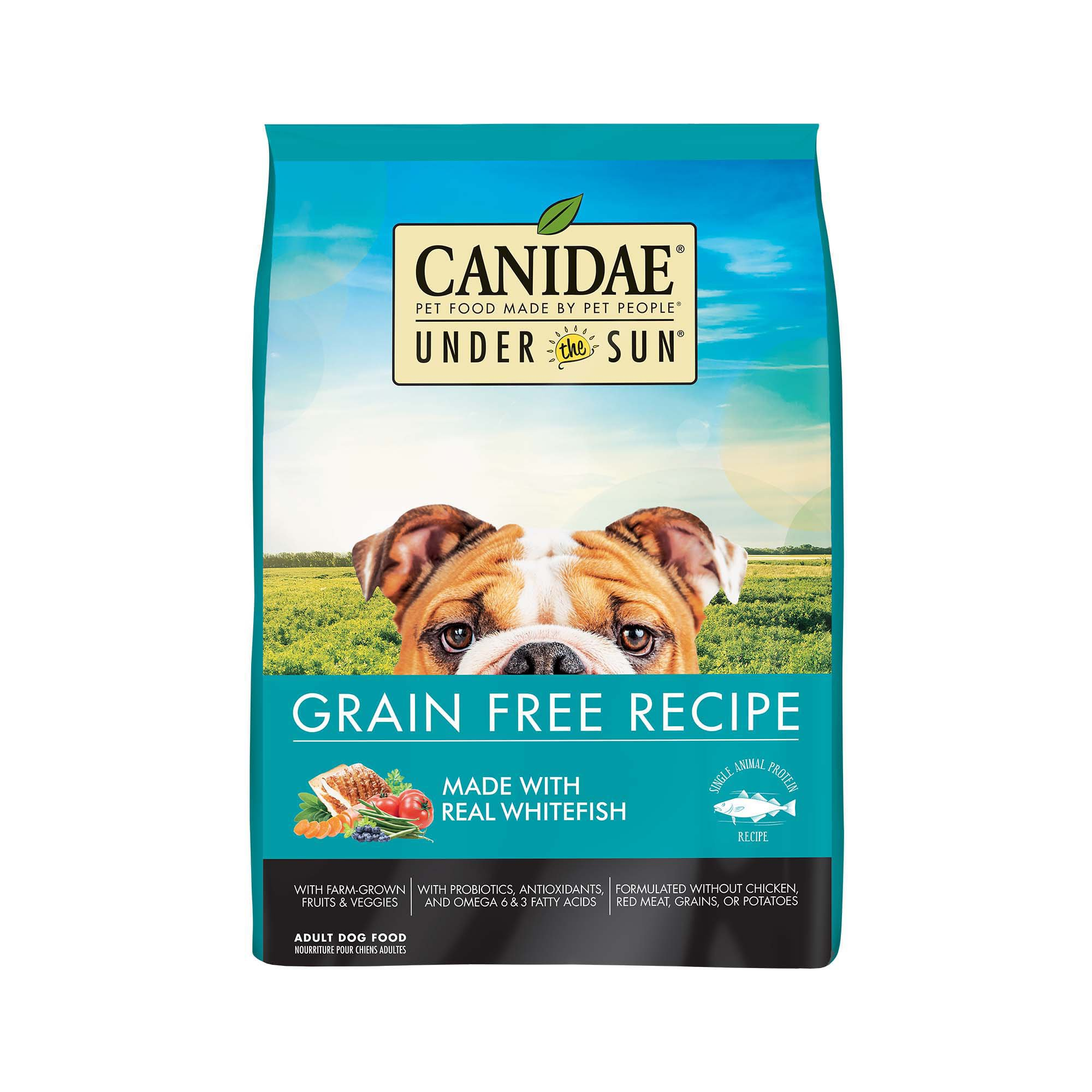under the sun grain free whitefish adult dog food petco