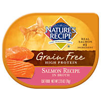 Nature's Recipe Grain Free Salmon Recipe in Broth Wet Cat Food