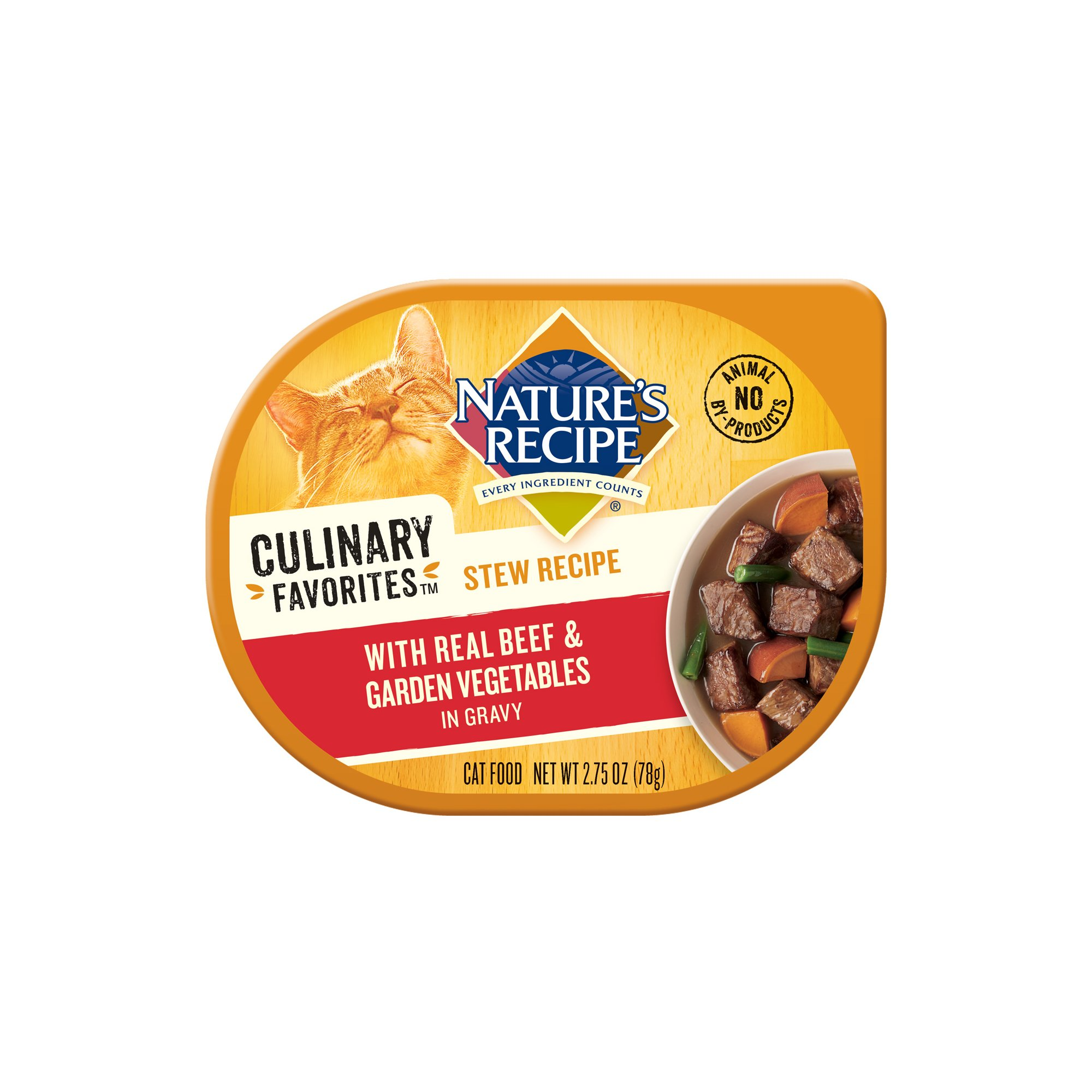 Nature's Recipe Culinary Favorites Beef Stew & Garden Vegetables in Gravy Cat Food