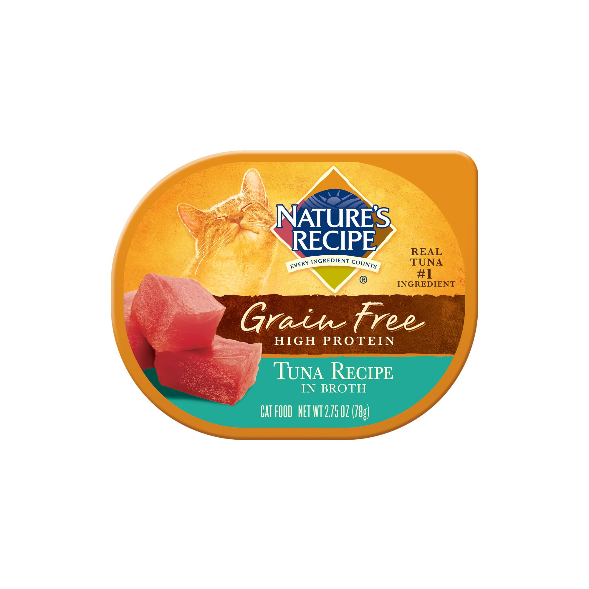 Nature's Recipe Grain Free Tuna Recipe in Broth Wet Cat Food