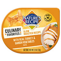 Nature's Recipe Culinary Favorites Slow Roasted Turkey & Garden Vegetables Pate Cat Food