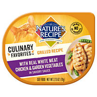 Nature's Recipe Culinary Favorites Grilled Chicken & Garden Vegetables in Savory Sauce Cat Food