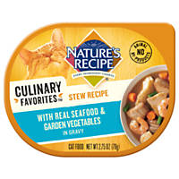 Nature's Recipe Culinary Favorites Seafood Stew & Garden Vegetables in Gravy Cat Food