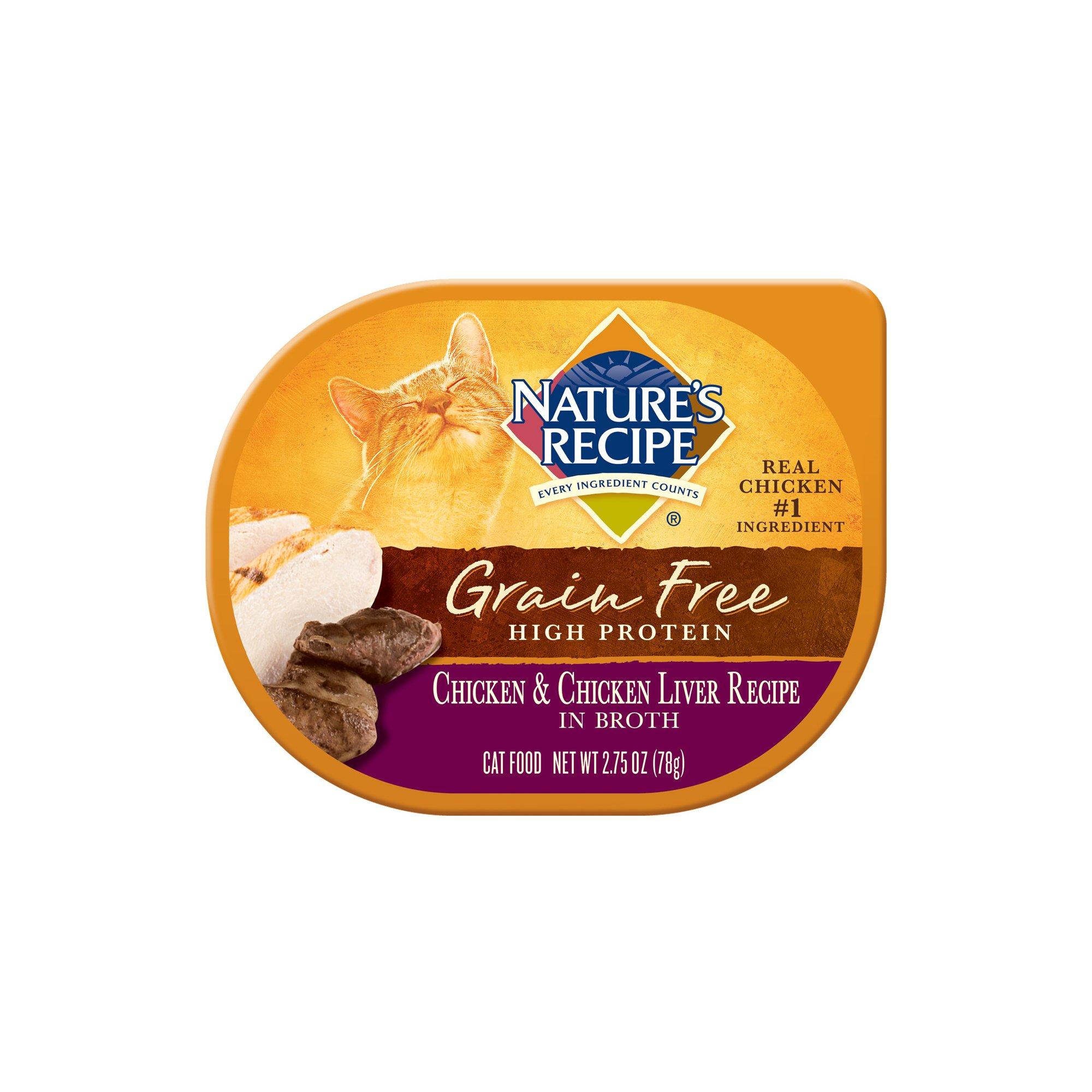 Nature's Recipe Grain Free Chicken & Chicken Liver Recipe in Broth Wet Cat Food
