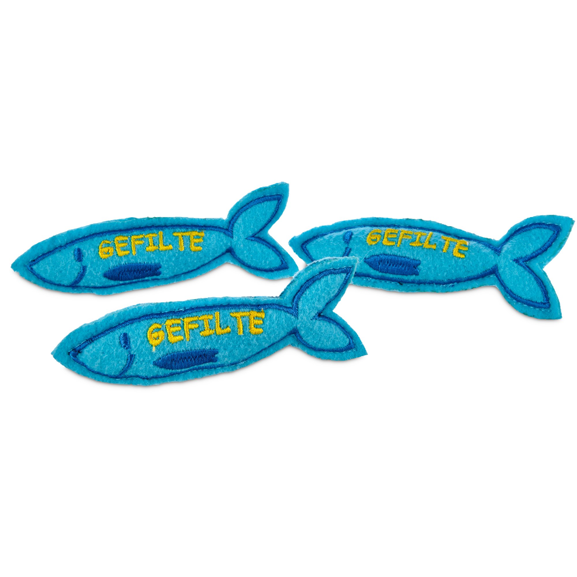 Time for joy hanukkah gefilte fish cat toy 3 pack petco for Fish cat toy