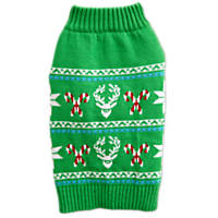 Time for Joy Green Holiday Stag Print Sweater