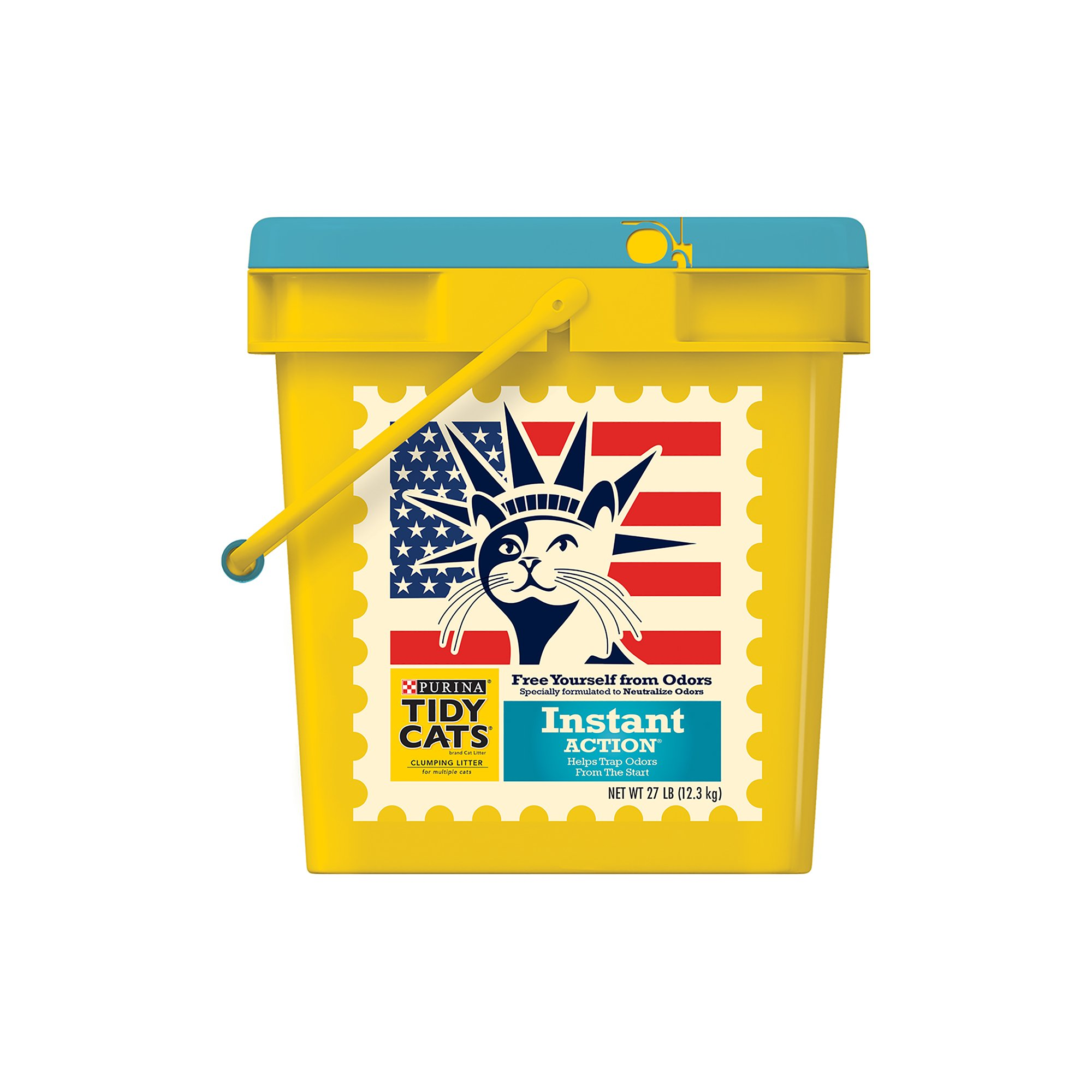 Purina Tidy Cats Clumping Litter Instant Action Patriotic Pail for Multiple Cats