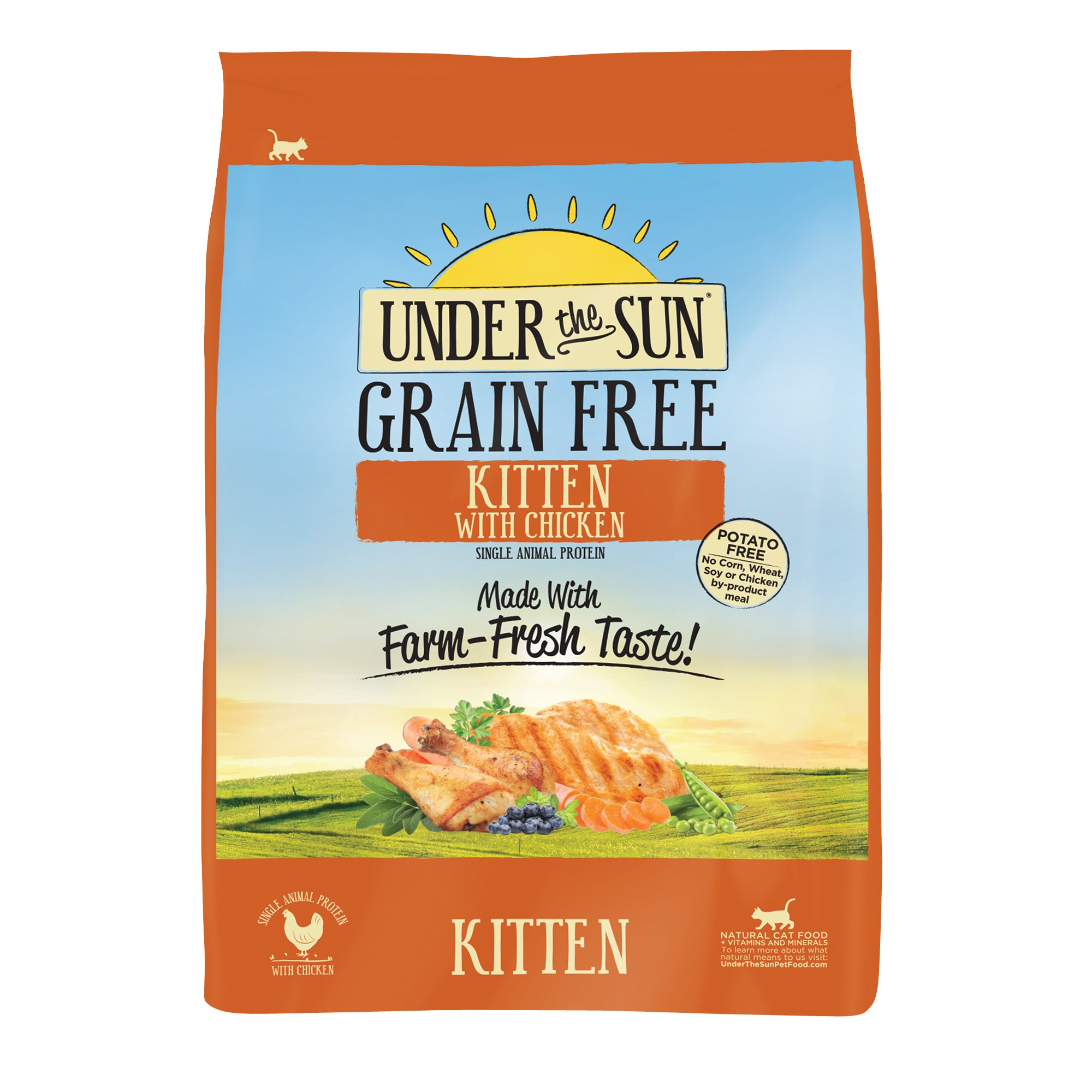 Under The Sun Grain Free Kitten Food Made With Farm-Raised Chicken