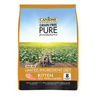 CANIDAE Grain Free PURE Foundations Kitten Formula Made With Fresh Chicken