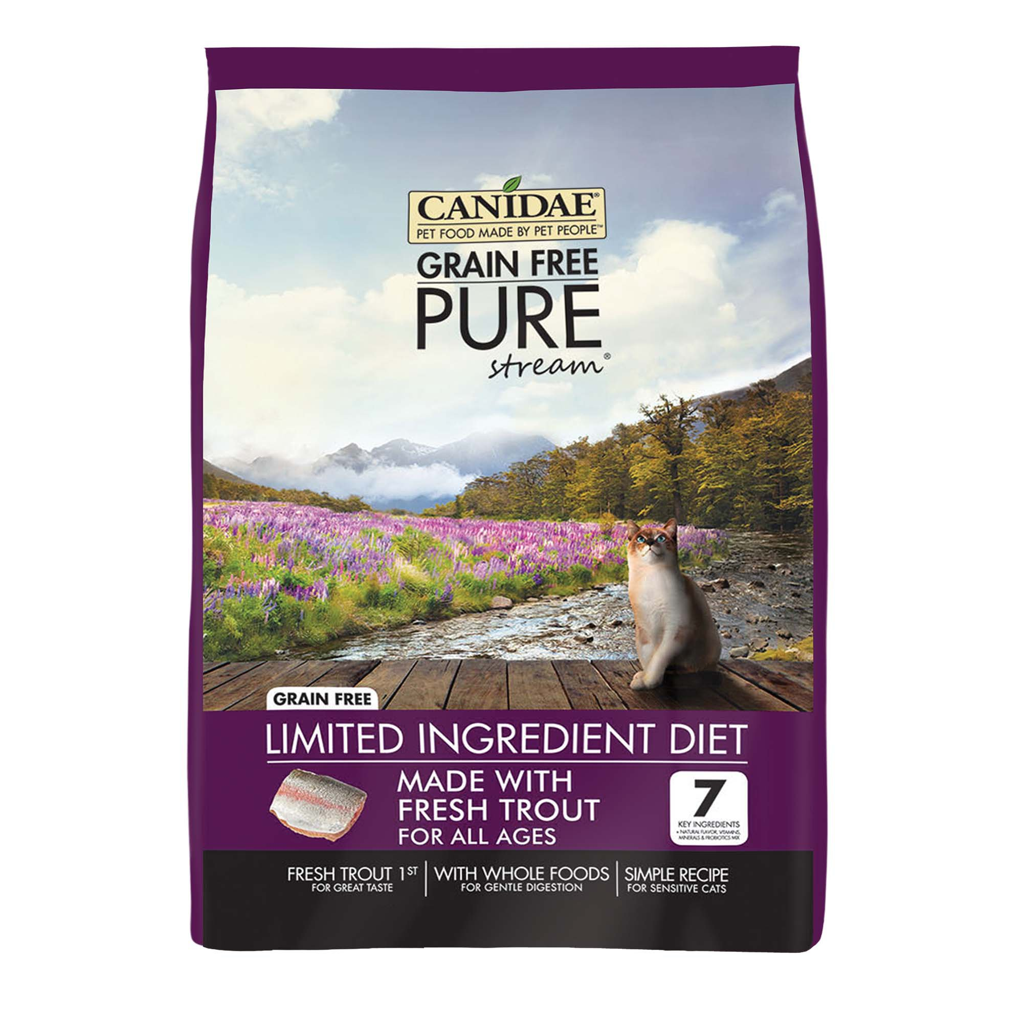 CANIDAE Grain Free PURE Stream Adult Cat Formula Made With Fresh Trout