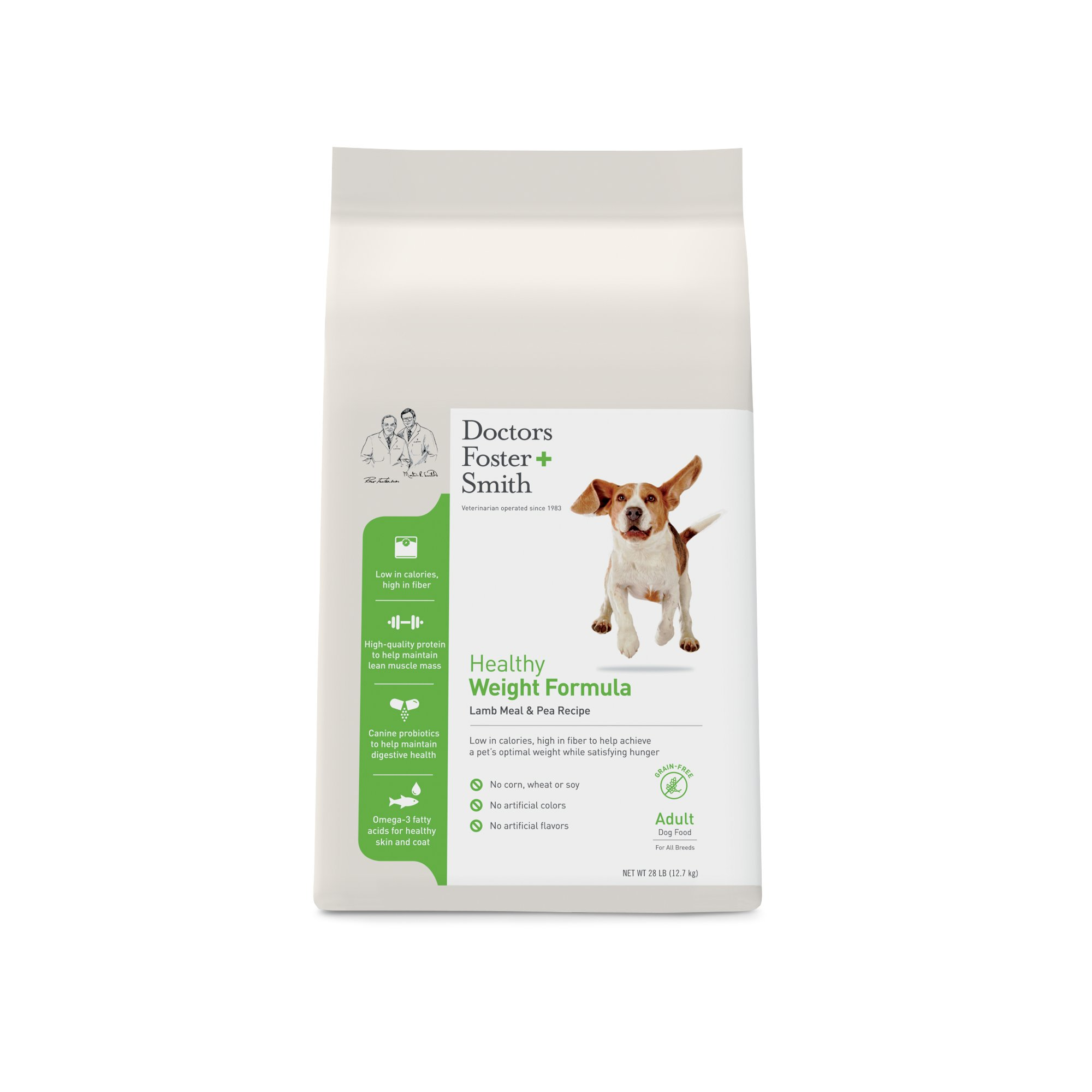 Doctors Foster + Smith Grain Free Healthy Weight Lamb Meal & Pea Adult Dog Food