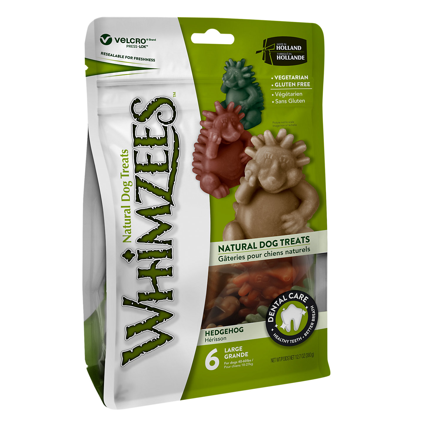 Whimzees Large Hedgehog Dog Treats, 6 Pieces