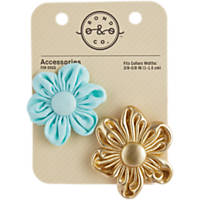Bond & Co. Aqua & Gold Flowers