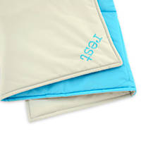 Territory Blue and Grey Modern Reversible Water Repellent Blanket