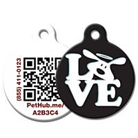 PetHub Recycled Steel Pet ID Tag 'LOVE'