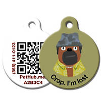 PetHub Recycled Steel Pet ID Tag, Crap I'm Lost
