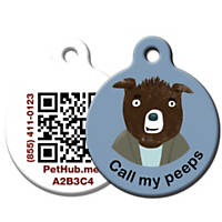PetHub Recycled Steel Pet ID Tag, Call My Peeps
