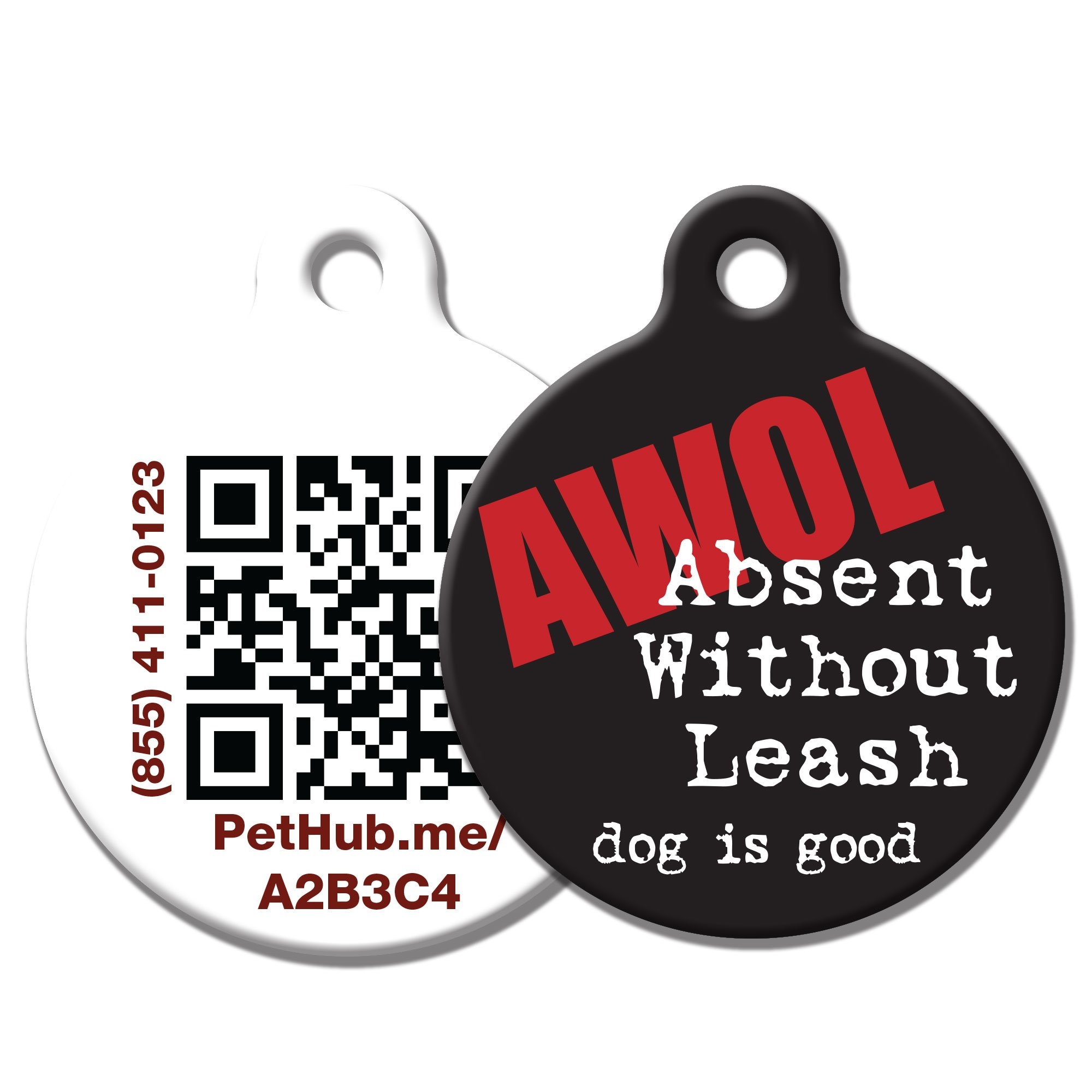 PetHub Recycled Steel Pet ID Tag, AWOL