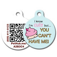 PetHub Recycled Steel Pet ID Tag, Cute as a Cupcake