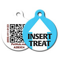 PetHub Recycled Steel Pet ID Tag, Insert Treat