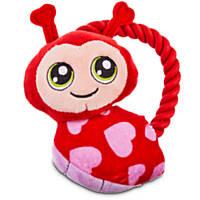 Love My Pup Ladybug Rope Handle Toy