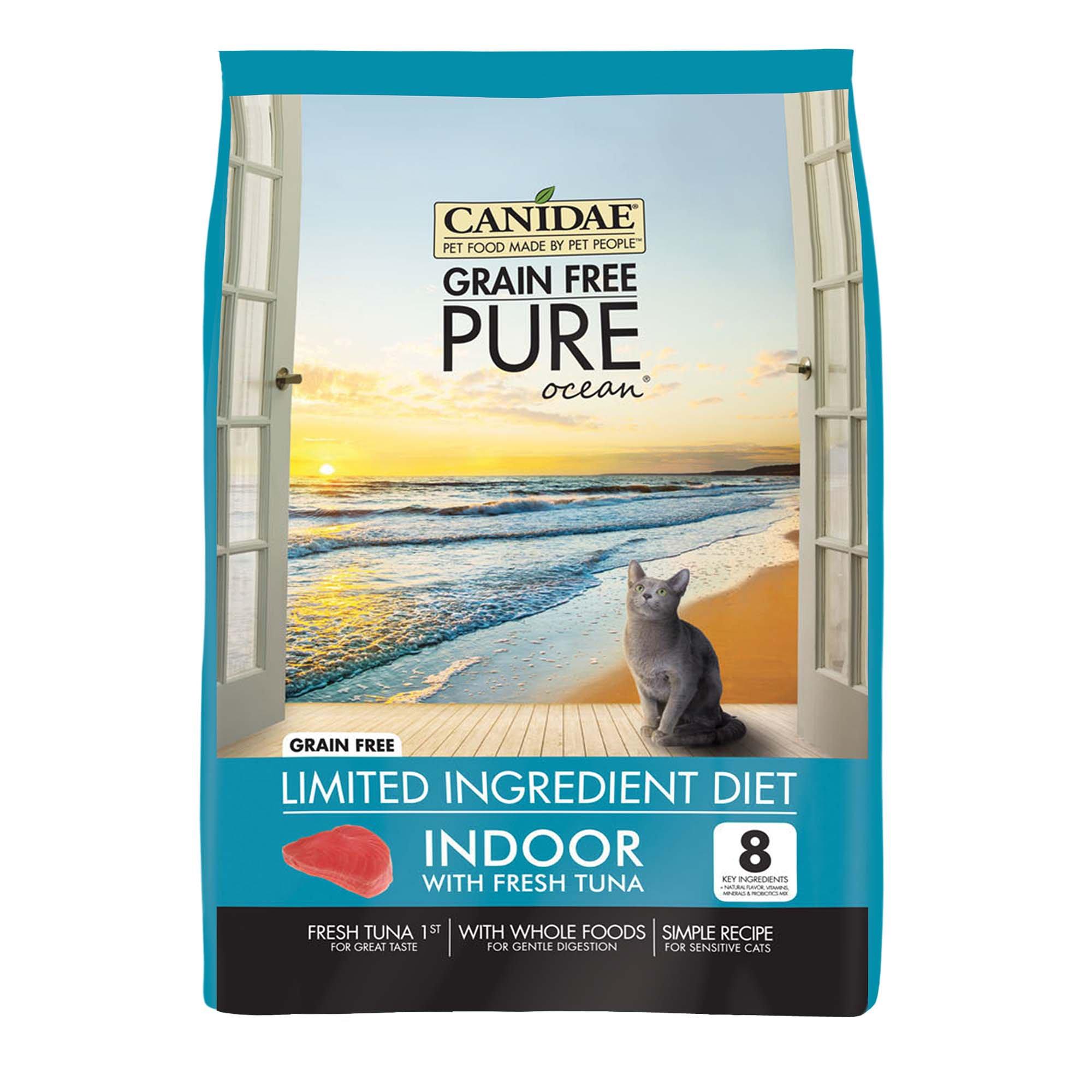 CANIDAE Grain Free PURE Ocean Indoor Cat Formula Made With Fresh Tuna