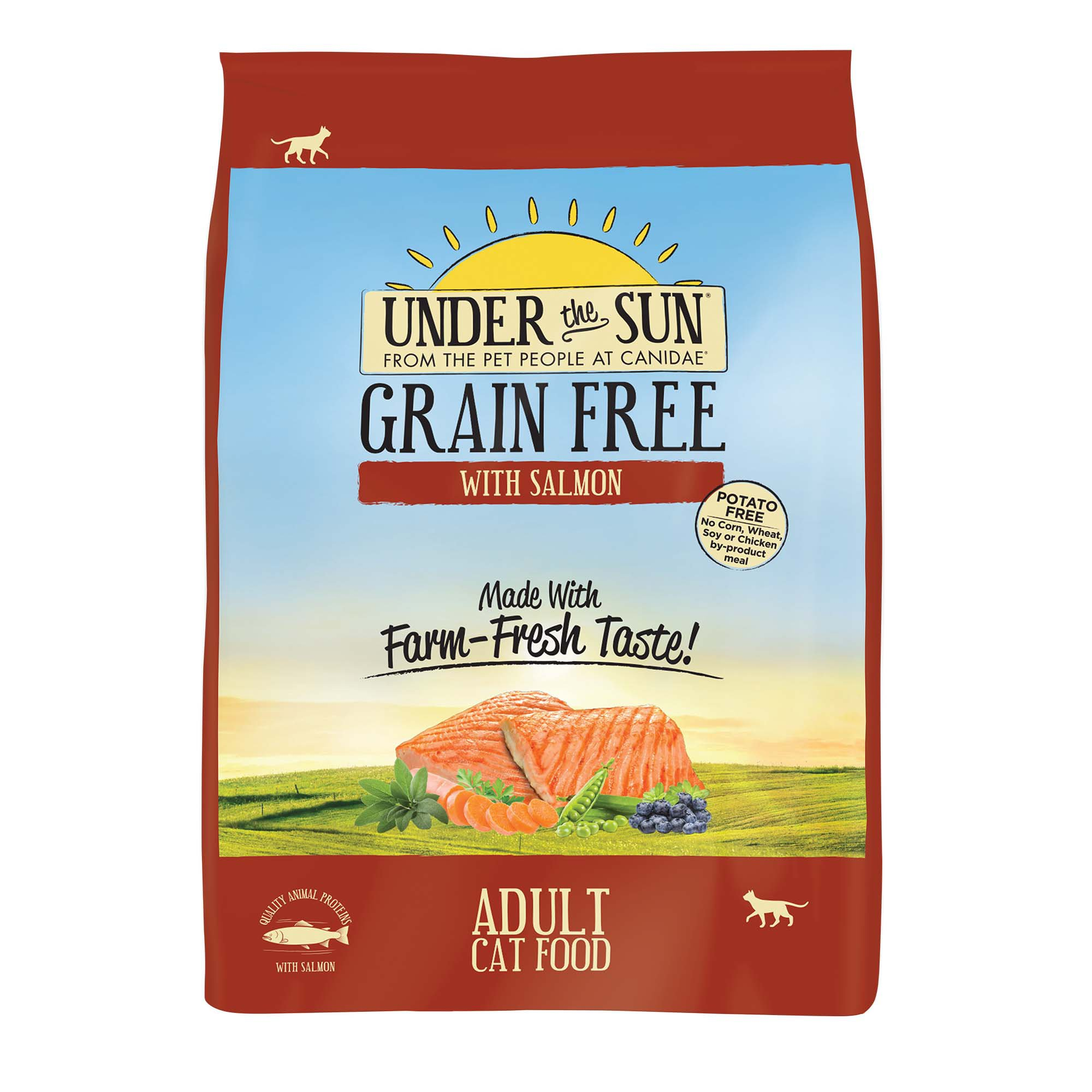 Under The Sun Grain Free Adult Cat Food Made With Fresh-Caught Salmon