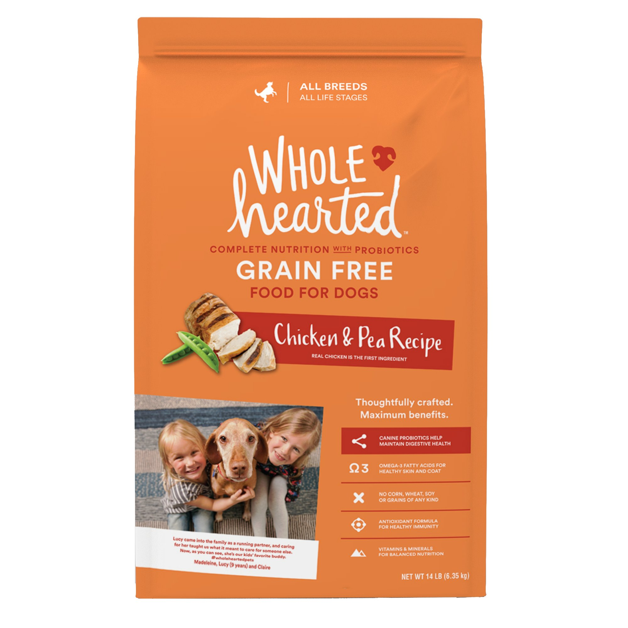 WholeHearted All Life Stages Dog Food - Grain Free Chicken & Pea