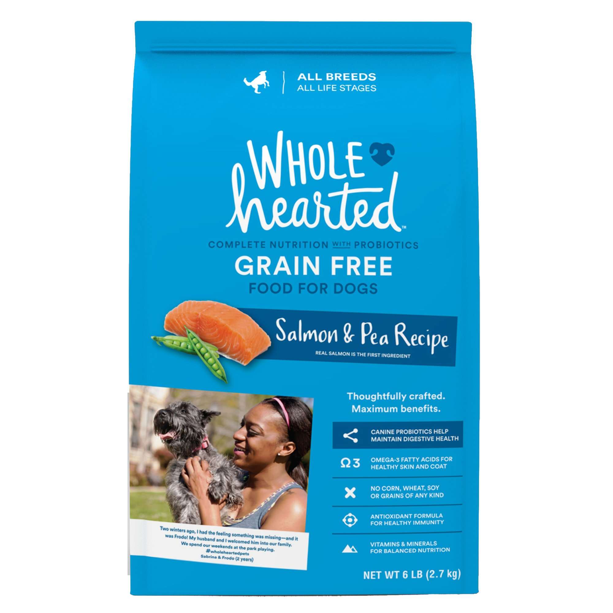 WholeHearted All Life Stages Dog Food - Grain Free Salmon & Pea