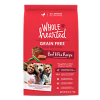 WholeHearted All Life Stages Dog Food - Grain Free Beef & Pea